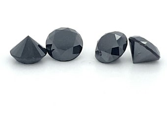 Natural Loose Black Diamond Round Brilliant Color Treated   5mm /4 mm /3 mm