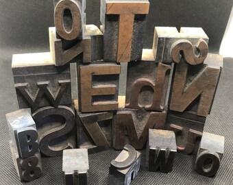 Set of Letterpress Printers Blocks