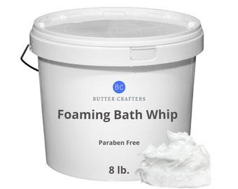 8 lbs. Foaming Bath Whip Base - 100% Pure Natural Vegan Fresh Paraben Free DIY Bath Frosting Scrub Wholesale Bulk | ButterCrafters