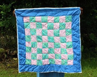 Gee's Bend Quilt, Artistic Quilt, Quilt, Handsewn Quilt, Handstitched Quilt, Cotton Quilt