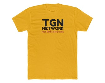 TGN Network Black Lettering Men's Cotton Crew Tee