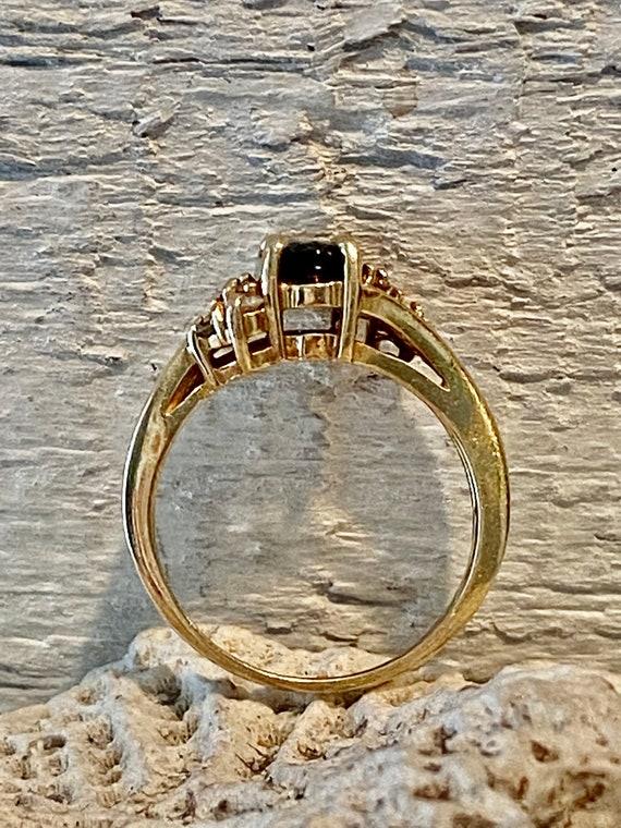 Vintage Sapphire and Diamond RIng - image 7
