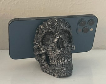Deluxe Sugar Skull Phone Stand