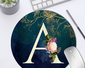22x22cm initial letter pattern Anti-Slip Leather Waterproof Desk Mouse Mat Pad PC Laptop Office Gaming Computer Home Mice Mat MousePad Gift