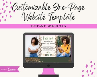 Lifestyle With Tara Blog Template,Customizable Canva Website Template, Landing Page Template, Sales Page Template, Canva Editable Template