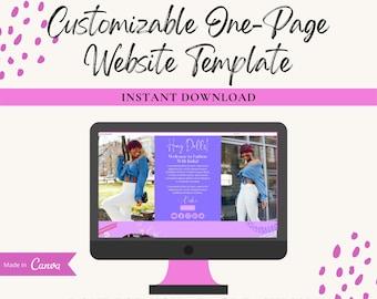 Customizable Canva Website Template, Landing Page Template, Fashion Website Template, Sales Page Template, Canva Editable Template, Canva