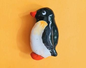 Penguin   Clay Pin Badge