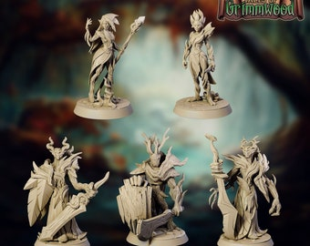Dryad Knight Witch Fey Wild Beyond Witchlight | Tales of Grimmwood | Broken Anvil | DnD Mini D&D Miniature Dungeon Dragon | Pathfinder | RPG