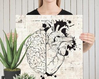 FINE ART PRINTS - Hand Drawn Line Art On An Aged Newspaper