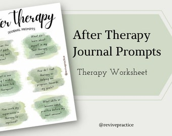 After Therapy Journal Prompts Worksheet