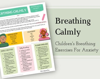 Breathing Calmly Worksheet - Anxiety Therapy for Children