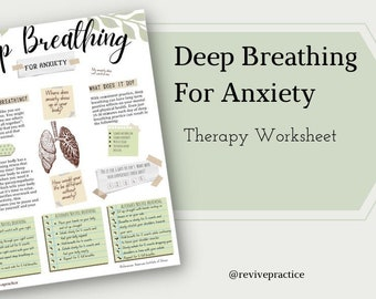 Deep Breathing for Anxiety - Therapy Worksheet