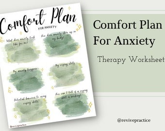 Comfort Plan For Anxiety Therapy Worksheet