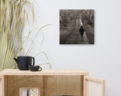 A Long Lonely Walk through the forest on Medium Canvas
