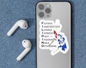 Filipinos' are amazing sticker sheet and the pride of the Philippines by Filscot Studio. Laptop sticker, windows sticker, Phone case sticker