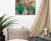 A fresh new Butterfly Emerged from its Cocoon on Medium Canvas.