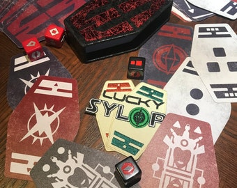 Sabacc Cards ( Sith Inspired - Weathered Set ) + FREE DICE