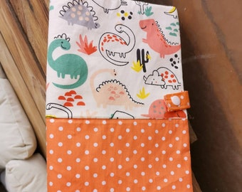 Protects health book polka dot and dinosaur patterns