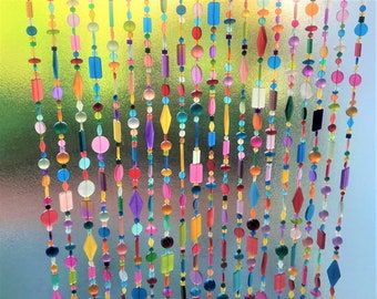 20-Strand Colourful Resin and Glass Bead Curtain