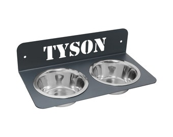 Design Stainless Steel Fressnapf Food Bowl Dog Bowl Double Bowl (Wall Mount)