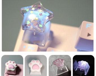 Cute Keycaps, Kawaii Keycaps, Cat Paw Keycap, R4 Keycap