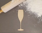 Champagne Glass Silhouette Fondant Cookie Cutter - Large Sizes Extra Durable