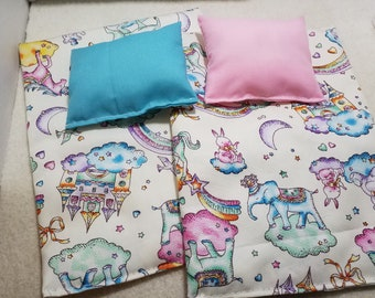 1/6 scale barbie doll bedding kids size bed linen set for Chelsea,kelly,Ryan doll for bunk beds..