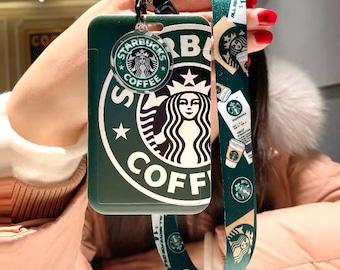 New Starbucks ID card holder/Keychain/Lanyard badges holder /Gift Card Holder/ best gift / back to school