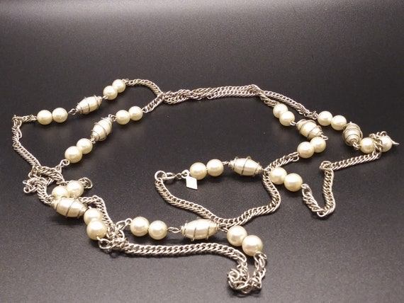 Sarah Coventry  Caged Pearl Necklace - image 1