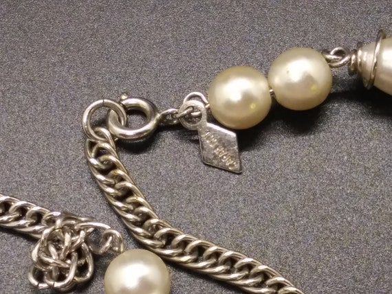 Sarah Coventry  Caged Pearl Necklace - image 2