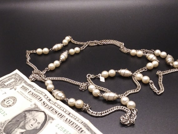 Sarah Coventry  Caged Pearl Necklace - image 3