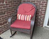 Outdoor Wicker Patio Rocking Chair