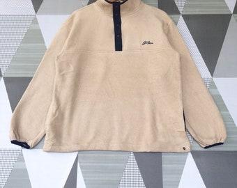 Vintage L.L.Bean Fleece Sweatshirt / LL Bean Sweatshirt Embroidery Logo Pullover Jumper Sweatshirt