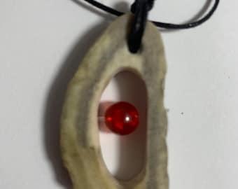 Real Handmade Animal Moose Antler Bone Jewelry Necklace #7 of 8