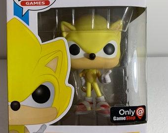 Super Sonic the Hedgehog Funko Pop Vinyl exclusive GameStop figure #287