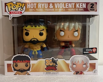 Hot Ryu & Violent Ken Street Fighter Funko Pop Vinyl Figure 2 Pack GameStop Exclusive