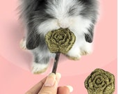 3 Pack Rose Petal Lollipop Apple Stick Rabbit Treats for Small Animals