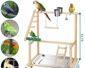 Parrot Playground Perch Ladder and Swing Toy