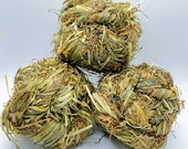 3 Pack Timothy Grass Balls Treat and Chew Toy for Rabbits and Small Animals