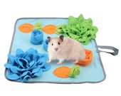Rabbit Foraging Mat with Fixing Handle -  Treat Dispenser for Rabbits Bunny Guinea Pigs Ferrets Chinchillas