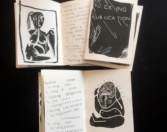 Fu ck ing P ub lica tion (risograph zine 12pages)