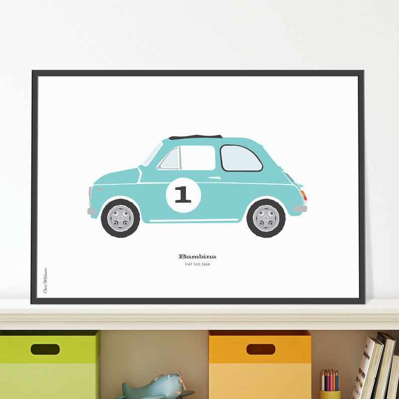 Fiat Bambina Jpeg download. A cute car for the baby's room image 0