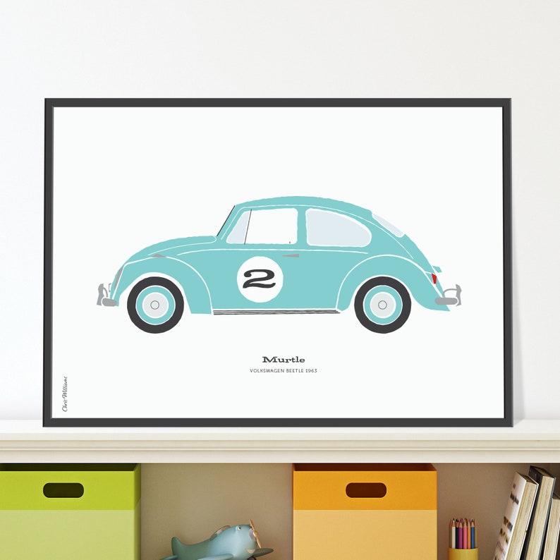 Volkswagen Beetle Jpeg download. Cute car poster for nursery image 0
