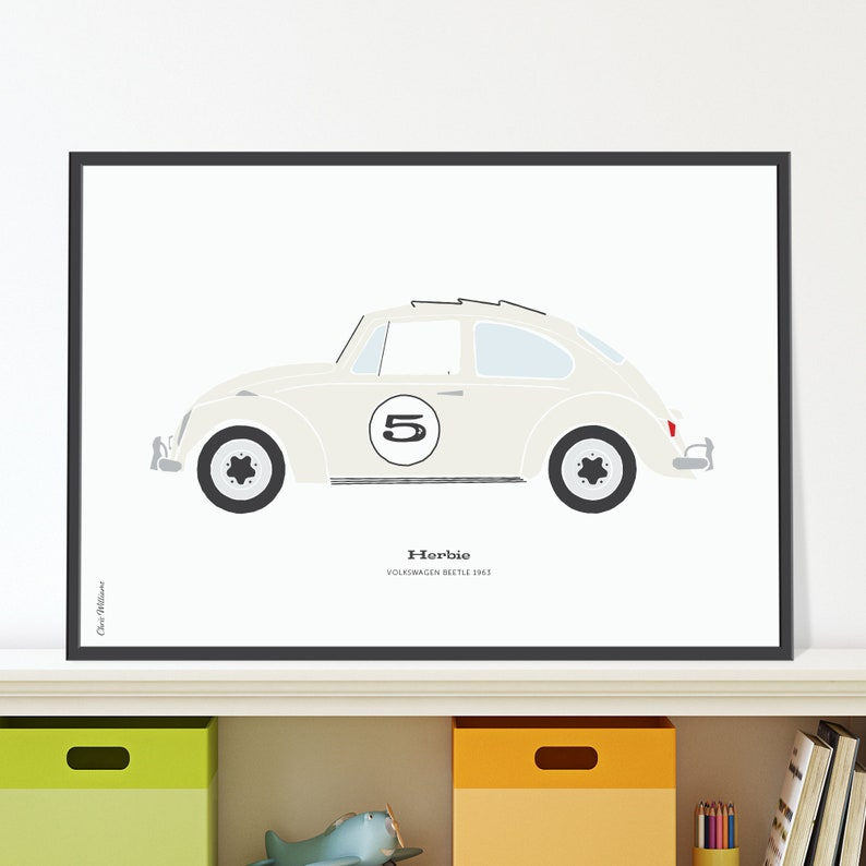 Herbie VW Jpeg download. Mark a birthday with a cute Beetle image 0