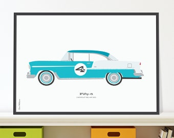 55 Chevrolet Bel Air Jpeg download. Classic 50s Chevy for 4 year old