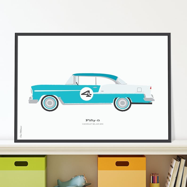 55 Chevrolet Bel Air Jpeg download. Classic 50s Chevy for 4 image 0