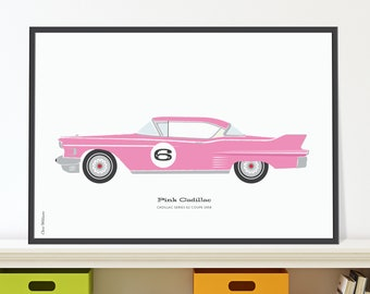 Pink Cadillac Jpeg download. A classic Caddy for your 6 year old.