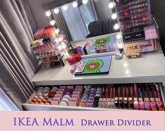 Acrylic Drawer divider for IKEA Malm ~storage organizer , drawer insert