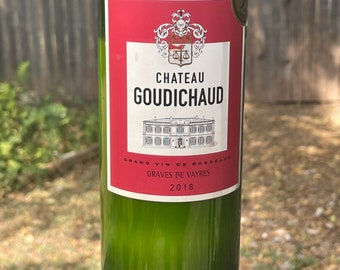 Chateau Goudichaud Recycled Wine Bottle Candle