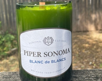 Piper Sonoma Recycled Wine Bottle Candle